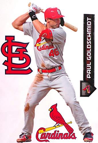 FATHEAD Paul Goldschmidt St. Louis Cardinals Logo Set Official MLB Vinyl Wall Graphics 17