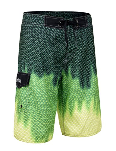 Unitop Men's Hybrid Color Surf Swim Volley Runner Board Shorts Green 40
