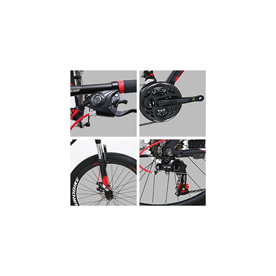 EUROBIKE X1 Mountain Bikes 21 Speed MTB Bicycle 26 Inch Wheels Suspension Fork MTB Bicycle