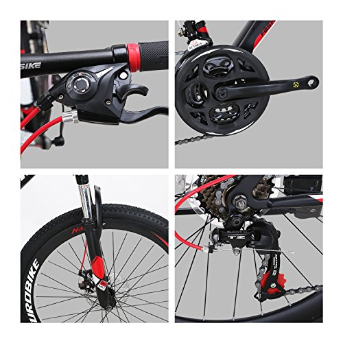 X1 Mountain Bikes 21 Speed MTB Bicycle 26 Inch Wheels Suspension Fork MTB Bicycle