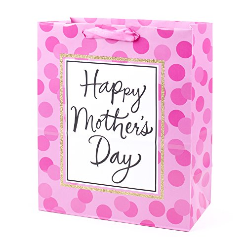 Hallmark Large Mother's Day Gift Bag (Pink Dots)