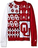 Klew NCAA Busy Block Sweater, Large, Oklahoma Sooners