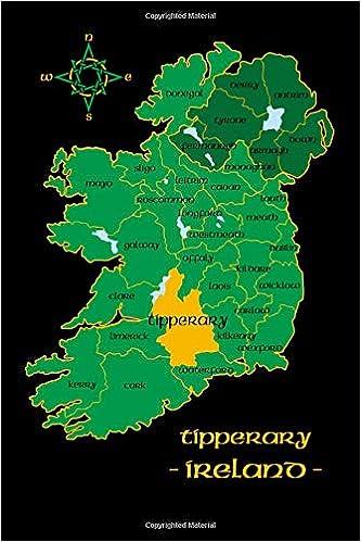 County Tipperary Ireland Map.Tipperary Ireland County Map Irish Travel Journal Republic Of