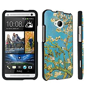 DuroCase ? HTC One M7 Hard Case Black - (Blossoming Almond Tree)