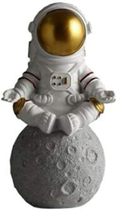 Astronaut&Planet Statues Sculpture Figurine Ornament Desktop Accessories Tabletop Decoration Coin Bank-Sit
