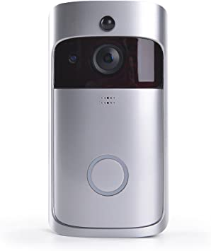 Night Vision 720P HD Security Camera with Free 8G Storage BENEVE Smart Wifi Video Ring Doorbell Real-Time Two-Way Talk//Video PIR Motion Detection and App Control for IOS and Android gray