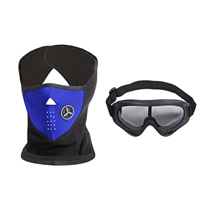 Amazon.com  Motorcycle Face Mask and Goggles - Winter Mens and Womens Face  Mask 6440b8976