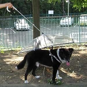 Pet Umbrella (Dog Umbrella) Keeps your Pet Dry and Comfotable in Rain,
