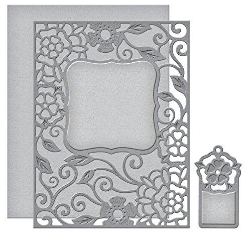 Spellbinders S4-502 Card Creator Tudor Rose Card Front Etched/Wafer Thin Dies by Spellbinders