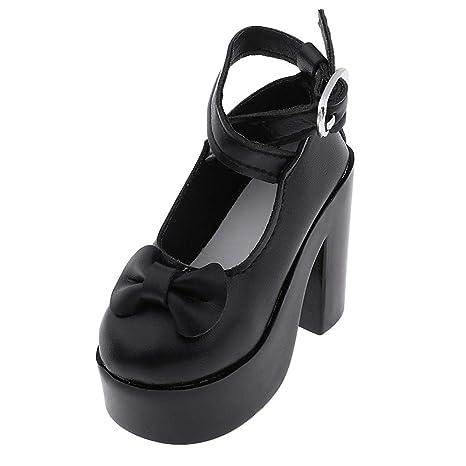 Amazon.es: P Prettyia Pares de Zapatillas de Alto Tacón con Bowknot Accesorios de Traje Elegante Juguete Dressup para Muñeca 1/3 - Negro: Juguetes y juegos