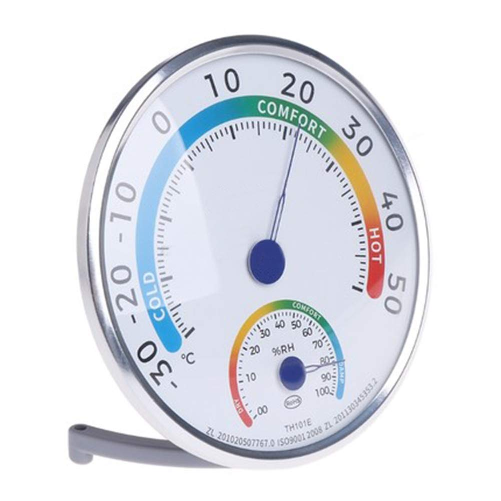 Indoor Outdoor Metal Pointer Type Hygrometer for Desktop or Hanging on Wall for Home Office Farm Greenhouse Faderr 2 in 1 Temperature Humidity Meter