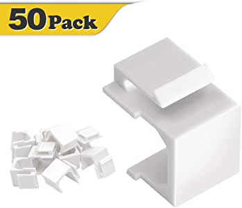 VCE 50-Pack Blank Keystone Jack Inserts for Wallplate