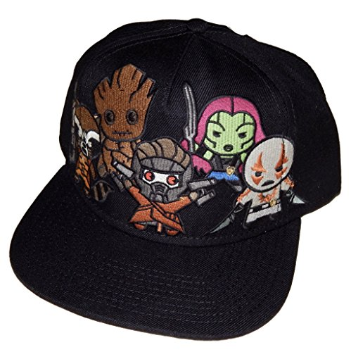 Rocket And Groot Costumes (BIOWORLD Marvel Comics Kawaii Guardians of the Galaxy Snapback Hat)