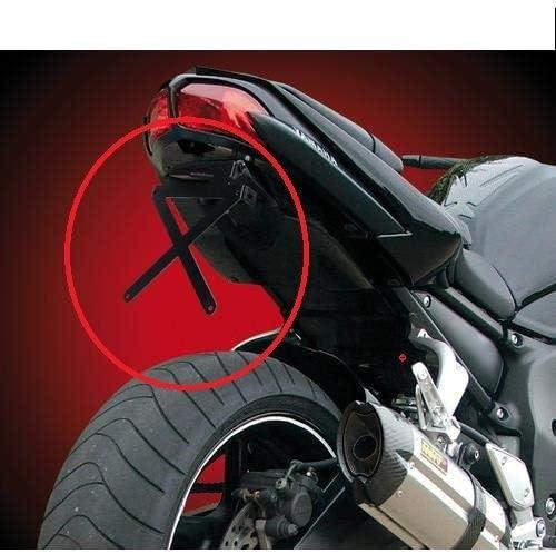 Compatible con Kawasaki KLE 500 Kit para moto portamatr/ícula deportiva soporte CATAR Placa luz placa l/ámpara 4 art/ículos universales todos homologados catalizador