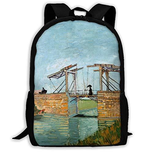 - School Backpack Bridge At Arles Print Travel Backpack Lightweight Laptop Casual Adult All Over Print Bag For Boys Girls&Women
