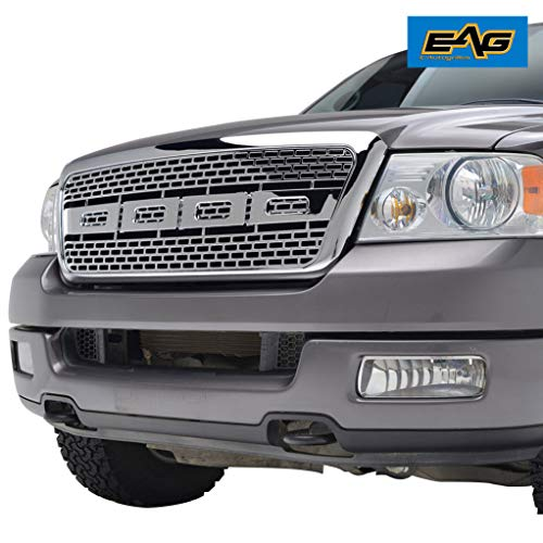 EAG Front Replacement Grille Upper Full Chrome Grill Fit for 04-08 Ford F-150