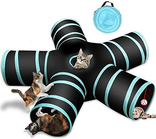 readygohigh 猫 トンネル 5通 お留守番に ペット用品 折りたたみ式 猫 トンネル キャットトンネル 子犬 うさぎ 猫玩具 鳴るボールに付き 安全素材 ストレス解消 プレイトンネル