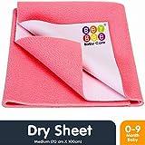 Bey Bee Just Dry Baby Care Waterproof Bed Protector Sheet - Medium (Salmon Rose)