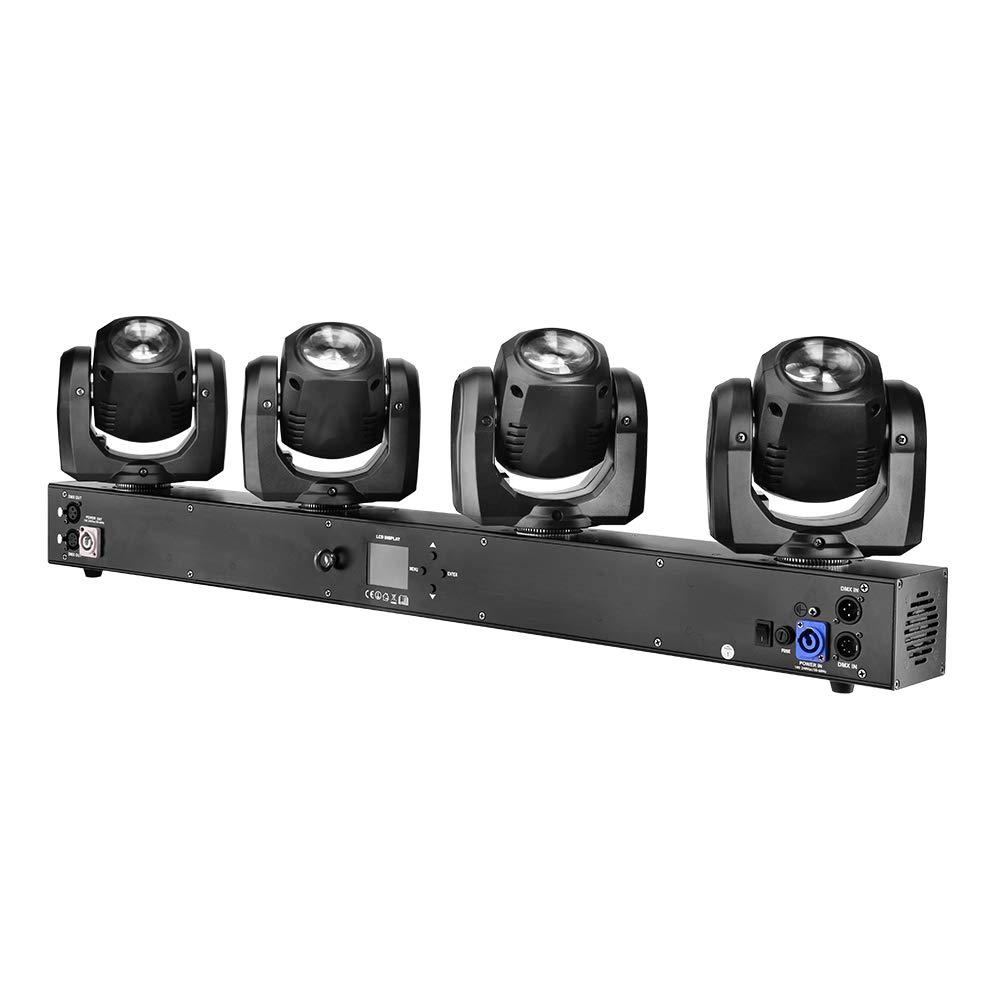 Imrelax 2019新しい熱い販売4 * 32W RGBW 4in1 LEDS 4ヘッドムービングヘッドライト個々のコントロールDMX DJステージディスコライト   B07HGWXTK9