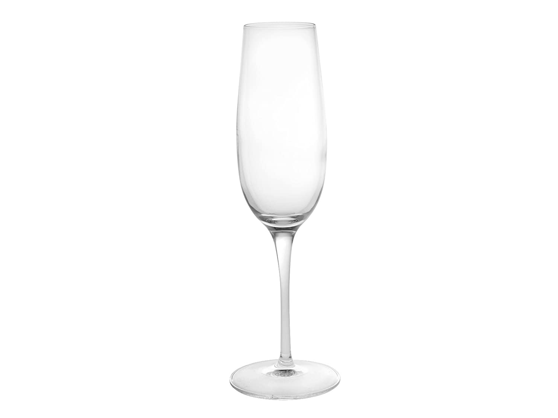 Luigi Bormioli Palace Flute Glass, Set of 6, 8-1/4-Ounce 09233/06
