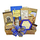 Snack Food Gift Basket for Men | Cheese, Crackers, Olives and More