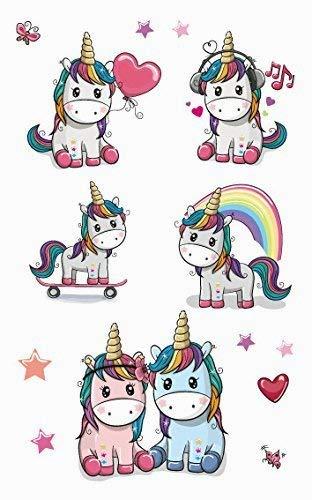 Xiton 8 pack unicornio tatuajes temporales para chicas mejores para unicornio suministros fiesta cotillón y unicornio unicornio metálico hermoso de ...