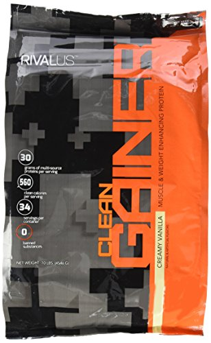 Rivalus Clean Gainer, Vanilla, 10 Pound