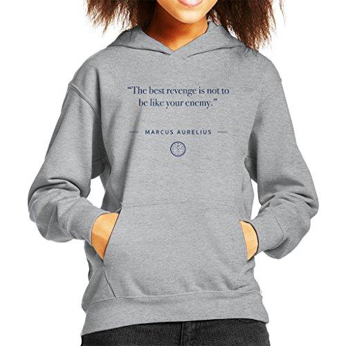 Stoic Time Marcus Aurelius The Best Revenge Quote Kid's Hooded Sweatshirt hot sale