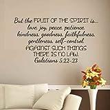 But The Fruits of the Spirit... - Galatians 5:22-23 Bible Verse Wall Decal Scripture Art Sticker(Dark brown,l)