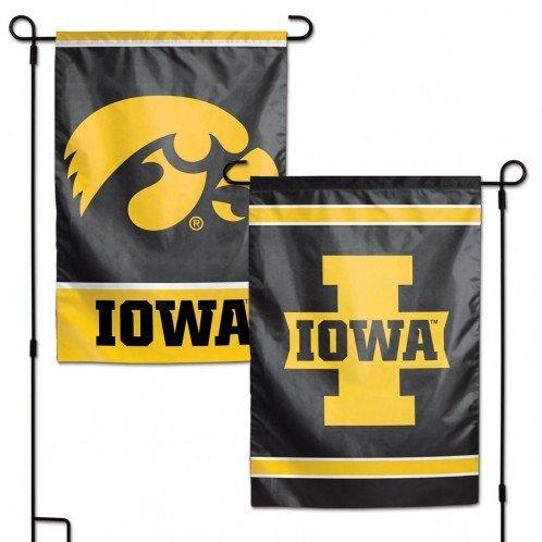 Two Sided Garden Flags - NCAA Iowa Hawkeyes 12 x 18 inch 2-Sided Garden Flag