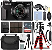 Canon PowerShot G7 X Mark II Digital Camera 20.1MP with 4.2X Optical Zoom Full-HD Point and Shoot Kit Bundled