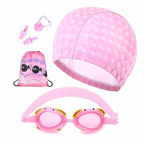 LXKMTYJ Masque de natation et de brouillard pour garçons, lunettes de natation, rose