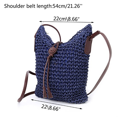 Straw Tote Hobo Handbag Amuele Women Shoulder Bag Beach Weave CF Bag Purse Lady Crossbody nYA6xqIR