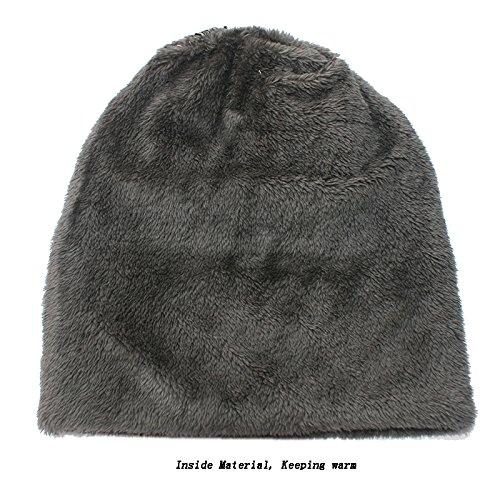 Gorrita para Hombres de Gris Punto Hombre Mujeres y Punto Gorros Sombrero Invierno HwawUqZ