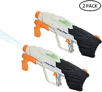 OOOUSE Pistolas de Agua Niños 2 Pack, 2500ML Grande Capacidad, 9 ...