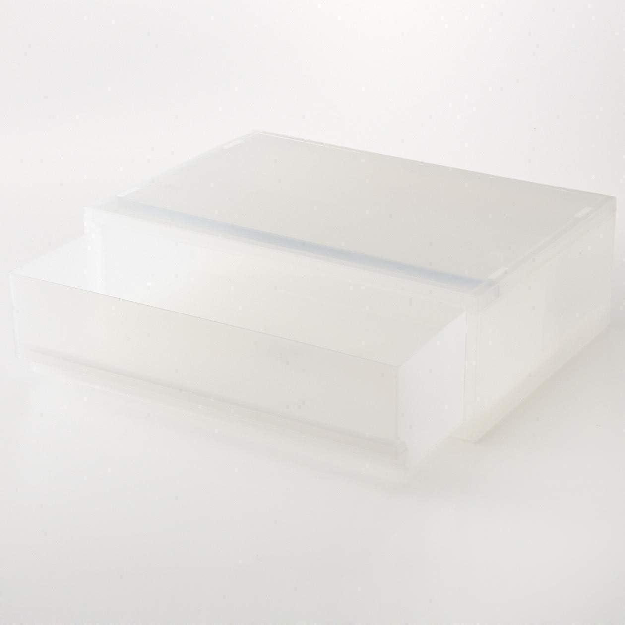 Muji Muji Cajón De Polipropileno A4 Estuche De Almacenamiento Poco Profundo, 37 cm Ancho x 26 cm Fondo x 12 cm Alto, Blanco: Amazon.es: Hogar