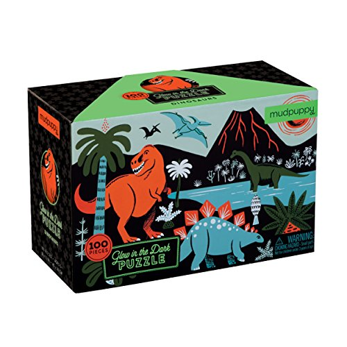 Dinosaurs Glow-in-the-Dark Puzzle (Glow In The Dark Activities For Kids)
