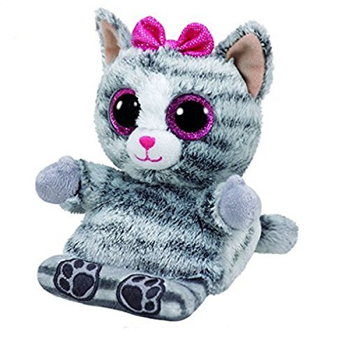 Ty Peek-A-Boo Phone Holder Molly Grey Cat