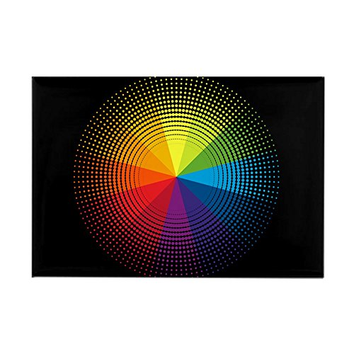 - Rectangle Magnet Artist Rainbow Color Wheel
