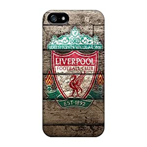 Awesome Famous Football Club Liverpool Flip Case With Fashion Design For Iphone 5/5s