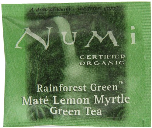 Numi Organic Tea Mate Lemon, Yerba Mate, Green Tea and Lemon Myrtle, 100 Count non-GMO Bulk Tea Bags