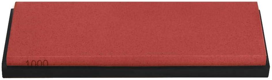 Fdit Sharpening Stone Grindstone Sharpener 1000# Grid Polishing Grinding Kitchen Knife Sharpener Tool(Red)