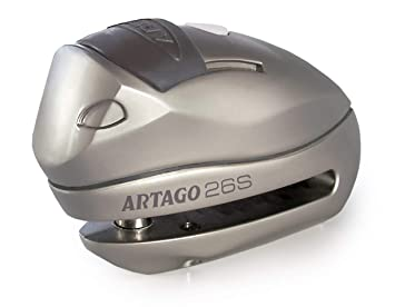 Artago 26S.10M Candado Antirrobo Disco con Alarma Y Warning Inteligente, 1200Db