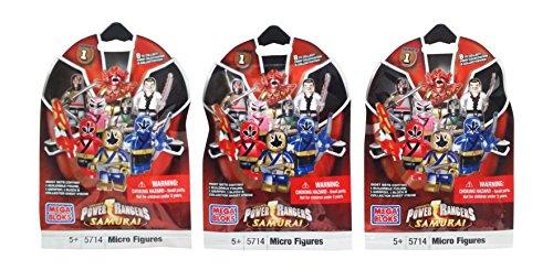 Mega Bloks Power Rangers Super Samurai Series 1 Blind Bag Mystery Packs (3 Packs)
