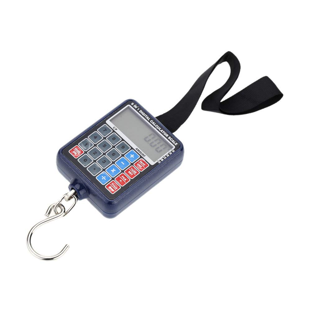 AJH Baggage Scale Portable Travel Fishing Scale 110Ib / 50kg Backlit LCD Screen Electronic Balance Digital Fish Hook Scale with Calculation Function by AJH