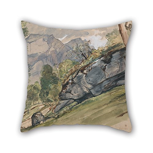 [18 X 18 Inches / 45 By 45 Cm Oil Painting John Frederick Lewis - The Valley Of Lutscheuen Pillow Covers,twice Sides Is Fit For Valentine,car] (John Homestuck Costumes)