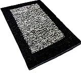 Grey with Black Border Handmade Carpet