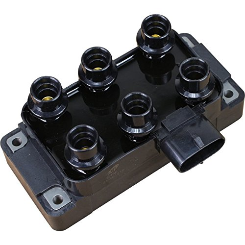 Brand New Complete Ignition Coil Pack For 1990-2009 1996 1998 Mazda 626 B3000 B4000 Navajo Ford Ranger Aerostar Econoline F-150 Mustang Taurus Mercury Mountaineer 4.0L 4.2L 3.0L 3.2L V6 Oem (Mazda 626 Ignition Coil)