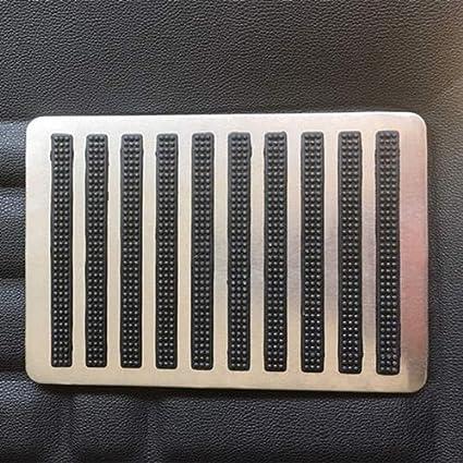 styleinside Stainless Steel Car Pedal Pad,Moistureproof Waterproof Rubber Floor Carpet Mat Patch Foot Heel Plate Pad for Car