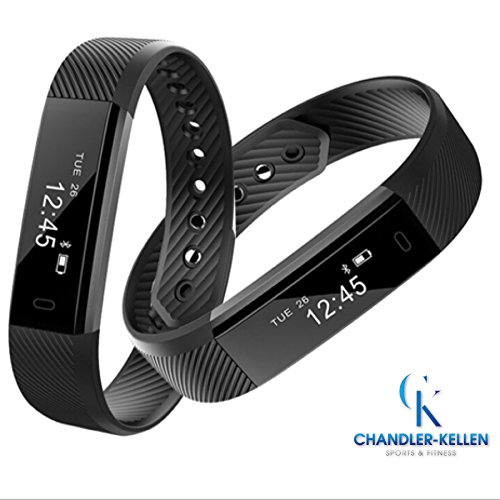 Smart Bracelet By Chandler-Kellen Sports VeryFit, Fitness Tracker Wristband w/ Pedometer, Calorie Tracker, Sleep Tracker w/ Alarm Clock, Water Resistant, For iPhone and Android